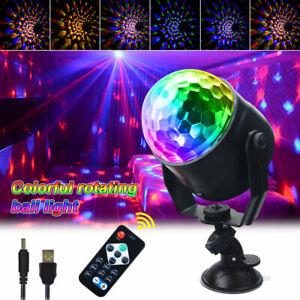 USB Magic Ball Light LED Party Disco RGB Rotating Club DJ Stage Lights +Remote