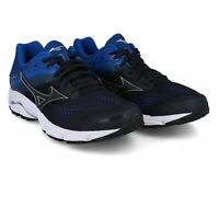 Mizuno Mens Wave Inspire 15 Running Shoes Trainers Sneakers - Black Blue Sports
