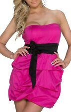 Sexy Femmes Rockabilly Bandeau Mini Robe Noeud Pois 34/36/38 Noir Rose