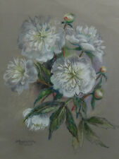 Pastell Blumen, signiert Prazmolska 2005