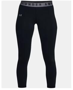 NWT $35 Under Armour Women's UA Favorite Crop Athletic Capris Black Sz S 1316142