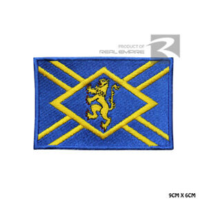 EAST LOTHIAN County Flag Iron On Sew On Embroidered Patch Badge For Clothes etc