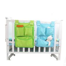 Baby Cot Rooms Nursery Hanging Storage Bag Bed Crib Organizer Toy Clothes Bag N3