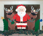 CHRISTMAS TRIO FIREPLACE SCREEN #SCR9 ~ Winfield Wood Craft Pattern Indoor Decor