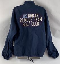 VINTAGE NYLON LONG SLEEVE JACKET U.S. BORAX 20 MULE TEAM GOLF CLUB