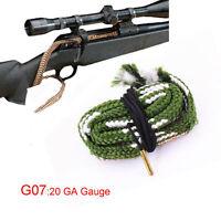 Xhunter Bore Snake 20GA Gauge 20G Boresnake Cleaning Kit Brush Rifle Cleaner G07