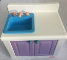 Vintage Little Tikes My Size Barbie Dollhouse Kitchen Sink Cabinet Furniture
