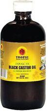 Tropic Isle Living Jamaican Black Castor Oil 8oz Glass Bottle