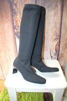 Anne Klein Black Stretch 8 M Women's Knee High Boots