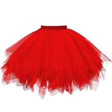 Womens High Quality Pleated Gauze Short Skirt Adult Tutu Dancing Party Skirt Hot