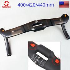 Full Carbon Fiber Hollow Handlebar Road Bike 31.8*400/420/440mm Racing Drop Bar