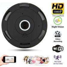 360° Wireless WIFI 1080P HD Fisheye IP Security Camera Panoramic 3D NVR Spy Cam