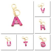 A-Z Alphabet Resin Keychain Letter Keyring Charm Women Bag Pendant Gift 1pc