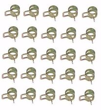 """25 PACK 1/4"""" FUEL LINE CLAMPS FITS 1/2"""" HOSE UNIVERSAL SPRING ACTION CLAMPS"""