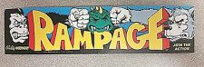 Rampage marquee sticker. 2.5 x 10.5. (Buy any 3 of my stickers, GET ONE FREE!)