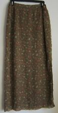 Judith Hart Collection size 14 long skirt polyester crepe lined olive floral