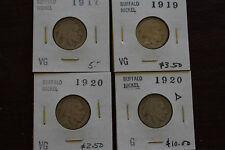 BUFFALO NICKEL MINI SET  1917-1938  22 COINS  VG / FINE GRADES  ALL DIFFERENT