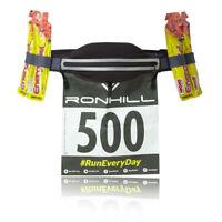 RonHill Unisex Marathon Waist Belt Black Grey Sports Running Breathable