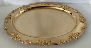 "Godinger GSA Gold Plate Serving Platter 18"""