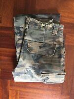 Pantaloni uomo cargo militari tasche laterali jeans tasconi mimetici US.ARMY