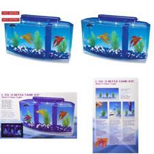 Betta Fish Tank Divider Triple Beta Tank Deluxe w/ Filtration System Aquarium