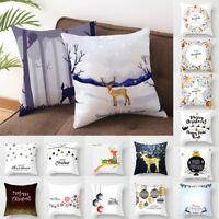 Christmas Pillow Case Sofa Throw Cushion Cover For Festival Home Decor