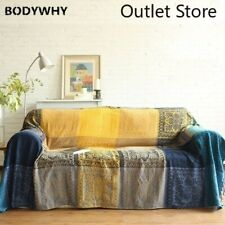 Ethnic Plaid Blanket Throw Knitted Blanket Vintage Carpet Tapestry Sofa Cover