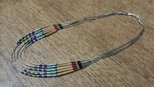 Sterling Silver navajo style beaded necklace