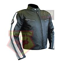 BMW 3874 GREY MOTORBIKE COWHIDE LEATHER MOTORCYCLE BIKERS ARMOURED JACKET