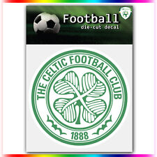 "Celtic FC UEFA Die Cut Vinyl Sticker Car Bumper Window 4""x4"""