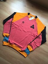 Palace Adidas Crewneck Pink Lucky Orange Black Tri Ferg Size Large L Jumper