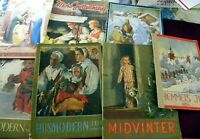 Vintage Swedish Scandinavian Magazines lot of 7