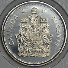 CANADA 50 CENTS 2011 Logo in MS