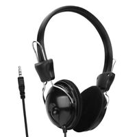 3.5mm Plug On Ear Headphone Wired Earphone Headset for Computer PC Laptop