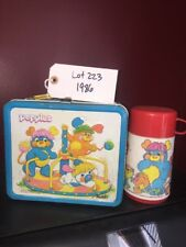 VINTAGE POPPLES METAL LUNCH BOX PAIL With THERMOS 1986 Lot 223