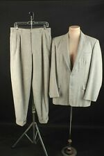 Men's 1950s Gray Wool Flannel Suit Jacket Med Pants 34x31 50s Vtg