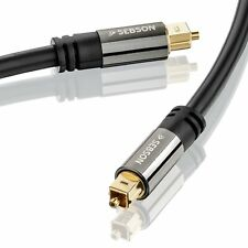 Toslink Kabel 2m für HiFi & Heimkino Anlagen, Optisches Audiokabel SPDIF SEBSON