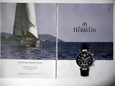 PUBLICITE-ADVERTISING :  Michel HERBELIN Newport Yacht Club [2pages]2015 Montres