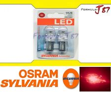 Sylvania Premium LED Light 1157 Red Two Bulbs Stop Brake Replace Upgrade Lamp