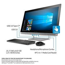 HP Pavilion 27 TOUCH Desktop i7-7700K 1TB SSD 32GB RAM All-in-One fast 27-a220xt