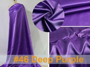 1 Yard White Plain Satin Material Lining Gift Diy Scarf Silky Charmeuse Fabric