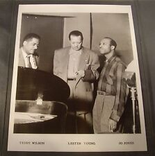 Original 1950's 8 x 10 Publicity Photo Lester Young Playback in Studio Cool!