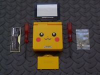 Pokemon Pikachu GBA SP Replacement Housing Shell,new Plastic Lens,AGS101 sticker