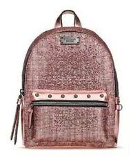 Victoria's Secret Sparkle Pink Mini Backpack Bag Bling Metallic Rose Gold City