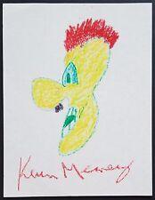 KEVIN MEANEY SIGNED ORIGINAL CHARITY DOODLE SKETCH ART STAND-UP COMEDIAN ACTOR
