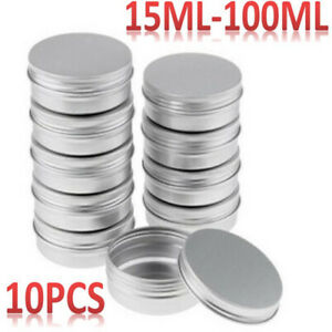 10PCS Metal Tin Silver Storage Containers For Coin Candy Key Box Case Organizer