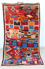 Gorgeous Azilal vintage Moroccan rug Multi-color 7'10 x 4'4 Painting Beni Ourain