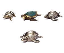 Decorative Figures Turtle Metal Figure Silver Plated Turtle Sculpture Decor New