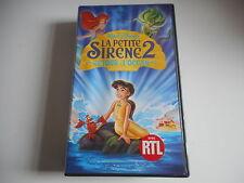 K7 VHS. CASSETTE VIDEO - DISNEY LA PETITE SIRENE 2. RETOUR A L'OCEAN