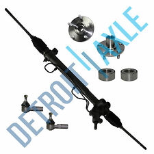 New Steering Rack and Pinion + 2 Wheel Hub Bearing + 2 Outer Tie Rod End V6 3.0L